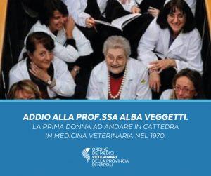Lutto nel mondo della Veterinaria. Addio alla prof.ssa Veggetti